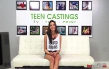 Busty teen super hot boobs enjoying extreme casting sex