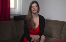 Lucia Love spanked around and made to suck cock