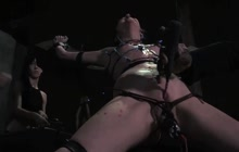 Bound up slut loves to be tortured