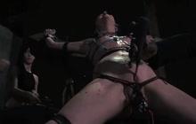 Bound up slut loves to be tortured