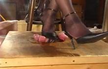 Amateur femdom shoejob