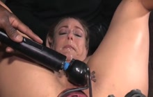 Tied up slut taking a hard fuck