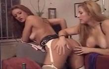 Horny lesbians enjoying BDSM sex