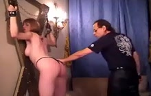 Whipping for a bound slave