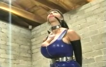 Amazing BDSM session in latex