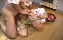 Japanese whore tied and fucked