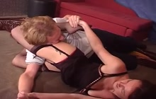 Sexy girl dominates her lover